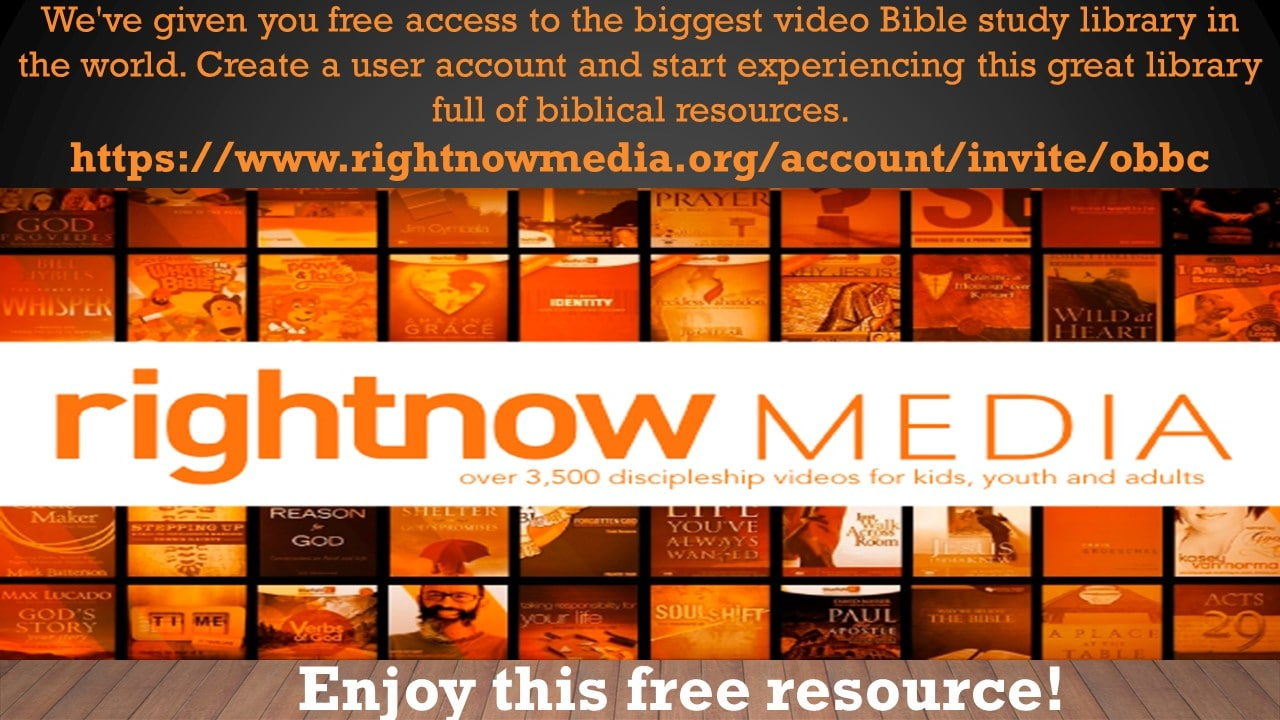 Video bible study Library at OBBC
